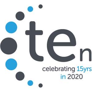 TEn Celebrating 15 years in 2020 logo